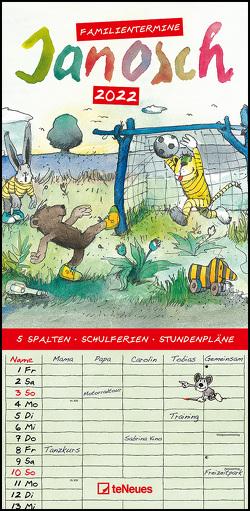 Janosch 2022 Familienplaner – Familien-Timer – Termin-Planer – Kinder-Kalender – Familien-Kalender – 22×45
