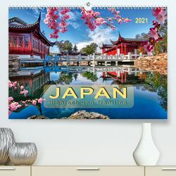 Japan – Hightech und Tradition (Premium, hochwertiger DIN A2 Wandkalender 2021, Kunstdruck in Hochglanz) von Roder,  Peter