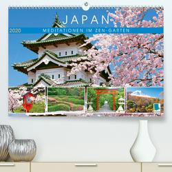 Japan: Meditationen im Garten (Premium, hochwertiger DIN A2 Wandkalender 2020, Kunstdruck in Hochglanz) von CALVENDO