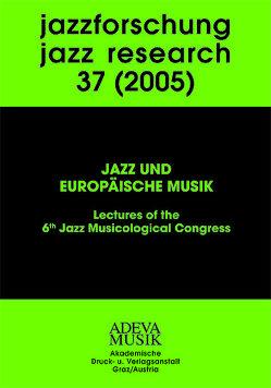 Jazzforschung – Jazz Research / Jazzforschung – Jazz Research von Kirschbaumer,  F, Kolleretsch,  E, Krieger,  F