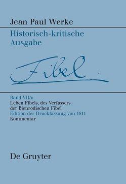 Jean Paul: Werke / Leben Fibels, des Verfassers der Bienrodischen Fibel, 2 von Kluger,  Alexander
