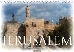 Jerusalem à la aquarell (Tischkalender 2018 DIN A5 quer) von Bruhn,  Olaf