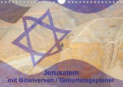 Jerusalem mit Bibelversen / Geburtstagsplaner (Wandkalender 2020 DIN A4 quer) von JudaicArtPhotography.com