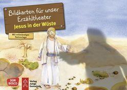 Jesus in der Wüste. Kamishibai Bildkartenset. von Hitzelberger,  Peter, Lefin,  Petra