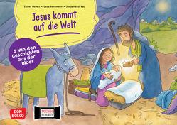 Jesus kommt auf die Welt. Kamishibai Bildkartenset. von Häusl-Vad,  Sonja, Hebert,  Esther, Rensmann,  Gesa