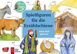 Jesus wird geboren. Spielfiguren für die Erzählschiene. von Lefin,  Petra