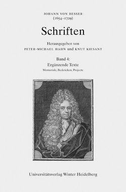 Johann von Besser (1654-1729). Schriften / Ergänzende Texte von Czech,  Vinzenz, Hahn,  Peter-Michael, Kürbis,  Holger