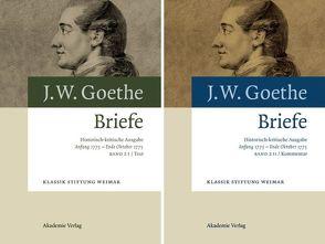 Johann Wolfgang von Goethe: Briefe / Anfang 1773 – Ende Oktober 1775 von Kurscheidt,  Georg, Richter,  Elke