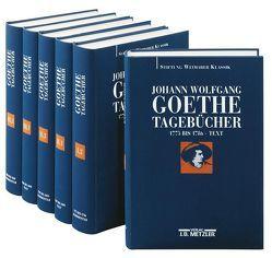 Johann Wolfgang von Goethe: Tagebücher von Albrecht,  Wolfgang, Döhler,  Andreas, Golz,  Jochen, Mangold,  Sebastian, Zehm,  Edith