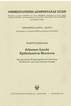Johannes Leucht: Epithalamivm Heroicvm von Korenjak,  Marin
