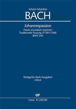 Johannes-Passion (Klavierauszug) von Bach,  Johann Sebastian