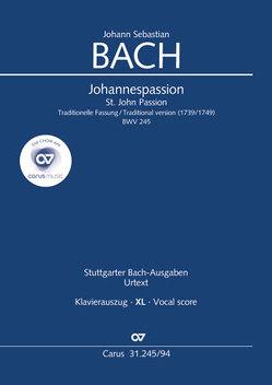 Johannes-Passion (Klavierauszug XL) von Bach,  Johann Sebastian