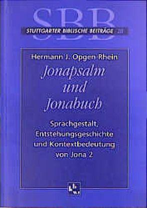 Jonapsalm und Jonabuch von Frankemölle,  Hubert, Hossfeld,  Frank L, Opgen-Rhein,  Hermann J