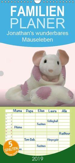 Jonathan's wunderbares Mäuseleben – Familienplaner hoch (Wandkalender 2019 , 21 cm x 45 cm, hoch) von brigitte jaritz,  photography