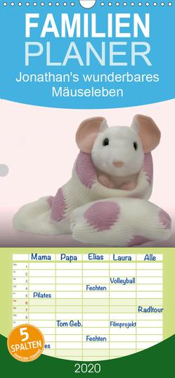 Jonathan's wunderbares Mäuseleben – Familienplaner hoch (Wandkalender 2020 , 21 cm x 45 cm, hoch) von brigitte jaritz,  photography
