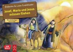 Josef, Maria und Jesus müssen fliehen. Kamishibai Bildkartenset. von Lefin,  Petra, Nommensen,  Klaus-Uwe