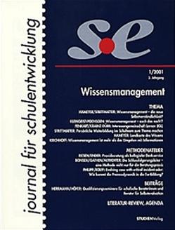 journal für schulentwicklung 1/2001 von journal für schulentwicklung