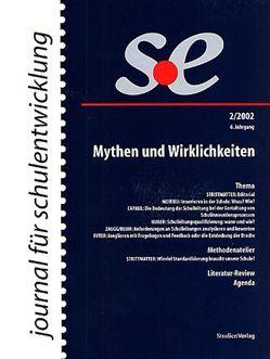 journal für schulentwicklung 2/2002 von journal für schulentwicklung