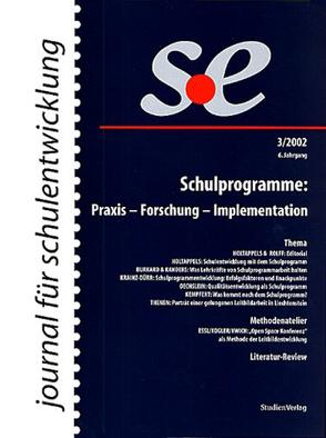 journal für schulentwicklung 3/2002 von journal für schulentwicklung