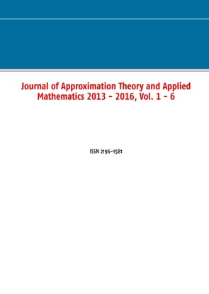 Journal of Approximation Theory and Applied Mathematics 2013 – 2016, Vol. 1 – 6 von Rasguljajew,  M.