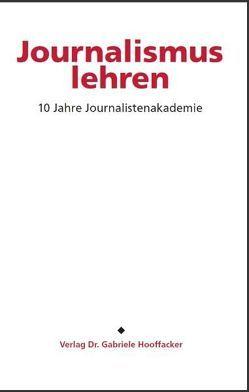 Journalismus lehren von Hooffacker,  Gabriele