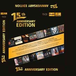Jubiläumsbox – 15 Jahre Profil Medien von Bruckner,  Anton, Gebel,  Franz Xaver, Mayr,  Rupert Ignaz, Mozart,  Wolfgang Amadeus, Quantz,  Johann Joachim, Saint-Saens,  Camille, Schnittke,  Alfred, von Suppé,  Franz