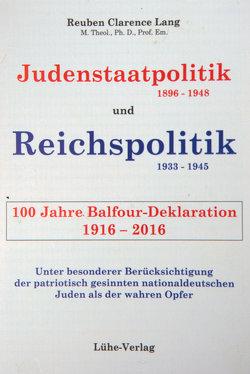 Judenstaatpolitik(1896-1948) und Reichspolitik (1933-1945) von Lang,  Reuben Clarence, Menkens,  Harm