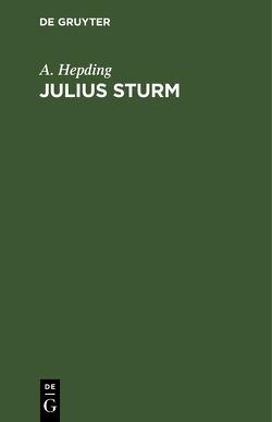 Julius Sturm von Hepding,  A.