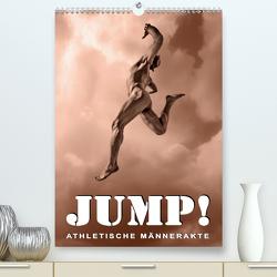 JUMP! ATHLETISCHE MÄNNERAKTE (Premium, hochwertiger DIN A2 Wandkalender 2020, Kunstdruck in Hochglanz) von Borgulat,  Michael
