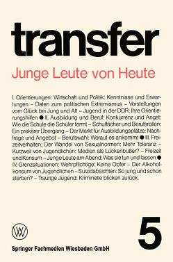 Junge Leute von Heute von Böhret,  Carl, Brewer,  Garry D., Brunner,  Ronald D., Ehrenberg,  Herbert, Liepelt,  Klaus, Struve,  Günter