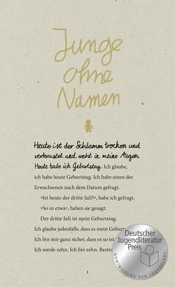 Junge ohne Namen von Ahrens,  Henning, Tasane,  Steve
