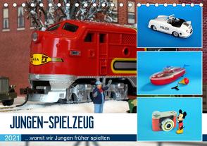 Jungen-Spielzeug (Tischkalender 2021 DIN A5 quer) von Huschka,  Klaus-Peter