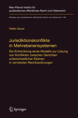 Jurisdiktionskonflikte in Mehrebenensystemen von Sauer,  Heiko