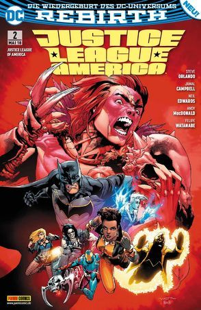 Justice League of America von Heiss,  Christian, MacDonald,  Andy, Orlando,  Steve, Watanabe,  Felipe