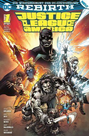 Justice League of America von Heiss,  Christian, MacDonald,  Andy, Neves,  Diogenes, Orlando,  Steve, Reis,  Ivan, Watanabe,  Felipe