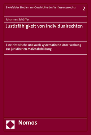 Justizfähigkeit von Individualrechten von Schäffer,  Johannes