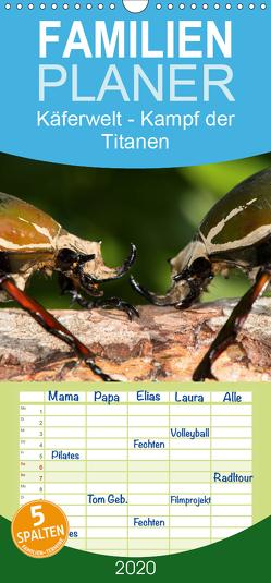 Käferwelt – Kampf der Titanen – Familienplaner hoch (Wandkalender 2020 , 21 cm x 45 cm, hoch) von Hilger,  Axel