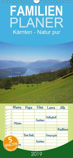 Kärnten – Familienplaner hoch (Wandkalender 2019 , 21 cm x 45 cm, hoch) von Rauchenwald,  Martin