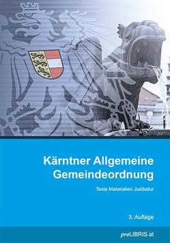 Kärntner Allgemeine Gemeindeordnung von proLIBRIS VerlagsgesmbH