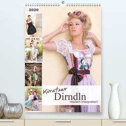 Kärntner Dirndln – modern interpretiertAT-Version (Premium, hochwertiger DIN A2 Wandkalender 2020, Kunstdruck in Hochglanz) von hetizia
