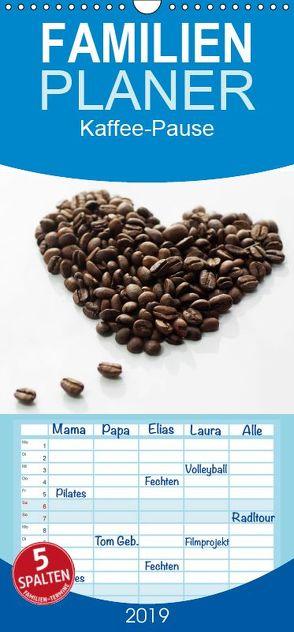 Kaffee-Pause Terminkalender – Familienplaner hoch (Wandkalender 2019 , 21 cm x 45 cm, hoch) von Riedel,  Tanja