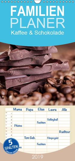 Kaffee & Schokolade – Familienplaner hoch (Wandkalender 2019 , 21 cm x 45 cm, hoch) von Schwarz,  Nailia