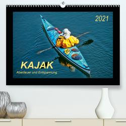 Kajak – Abenteuer und Entspannung (Premium, hochwertiger DIN A2 Wandkalender 2021, Kunstdruck in Hochglanz) von Roder,  Peter