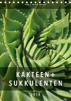 Kakteen + Sukkulenten (Tischkalender 2018 DIN A5 hoch) von + Horst Herzig,  Tina