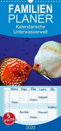 Kalendarische Unterwasserwelt – Familienplaner hoch (Wandkalender 2020 , 21 cm x 45 cm, hoch) von Hultsch,  Heike