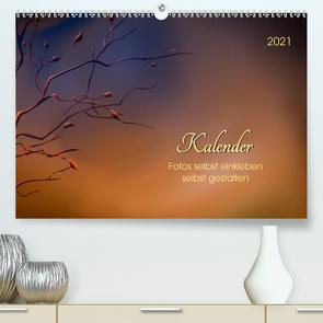 Kalender, Fotos selbst einkleben, selbst gestalten (Premium, hochwertiger DIN A2 Wandkalender 2021, Kunstdruck in Hochglanz) von Roder,  Peter