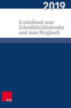 Kalender für alle im kirchlichen Dienst Ersatzblock von Ruprecht,  Arndt