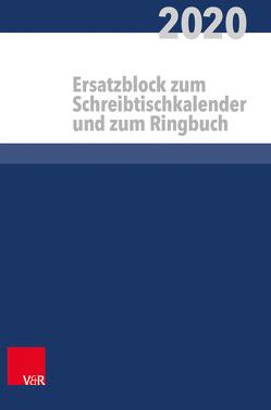 Kalender für alle im kirchlichen Dienst Ersatzblock von Behrends,  Heinz