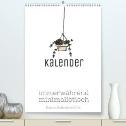 Kalender immerwährend minimalistisch – Kaktus Sukkulente & Co. (Premium, hochwertiger DIN A2 Wandkalender 2020, Kunstdruck in Hochglanz) von Speer,  Michael
