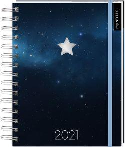 Kalender mit Spiralbindung Sternenhimmel 2021